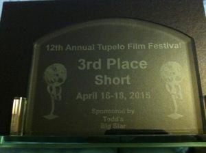 Award from Tupelo Film Festival